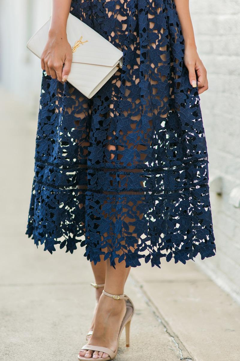 petite fashion blog, lace and locks, los angeles fashion blogger, oc fashion blogger, self portrait dress, lace midi dress, nordstrom dress
