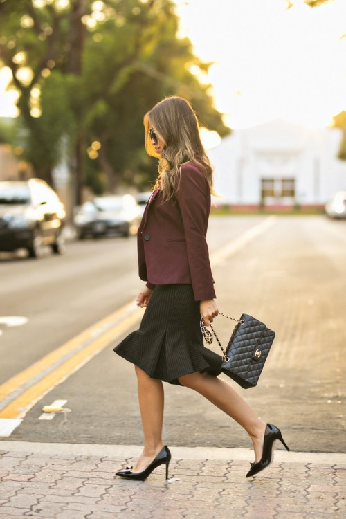 lace and locks, petite fashion blogger, work outfit, petite work outfit, express office wear, fall office look, express petite, orange county blogger