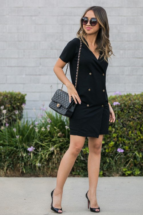 ace and locks, petite fashion blogger, asos office, women office wear, black tux dress, asos work dress, orange county fashion blog, los angeles fashion blog