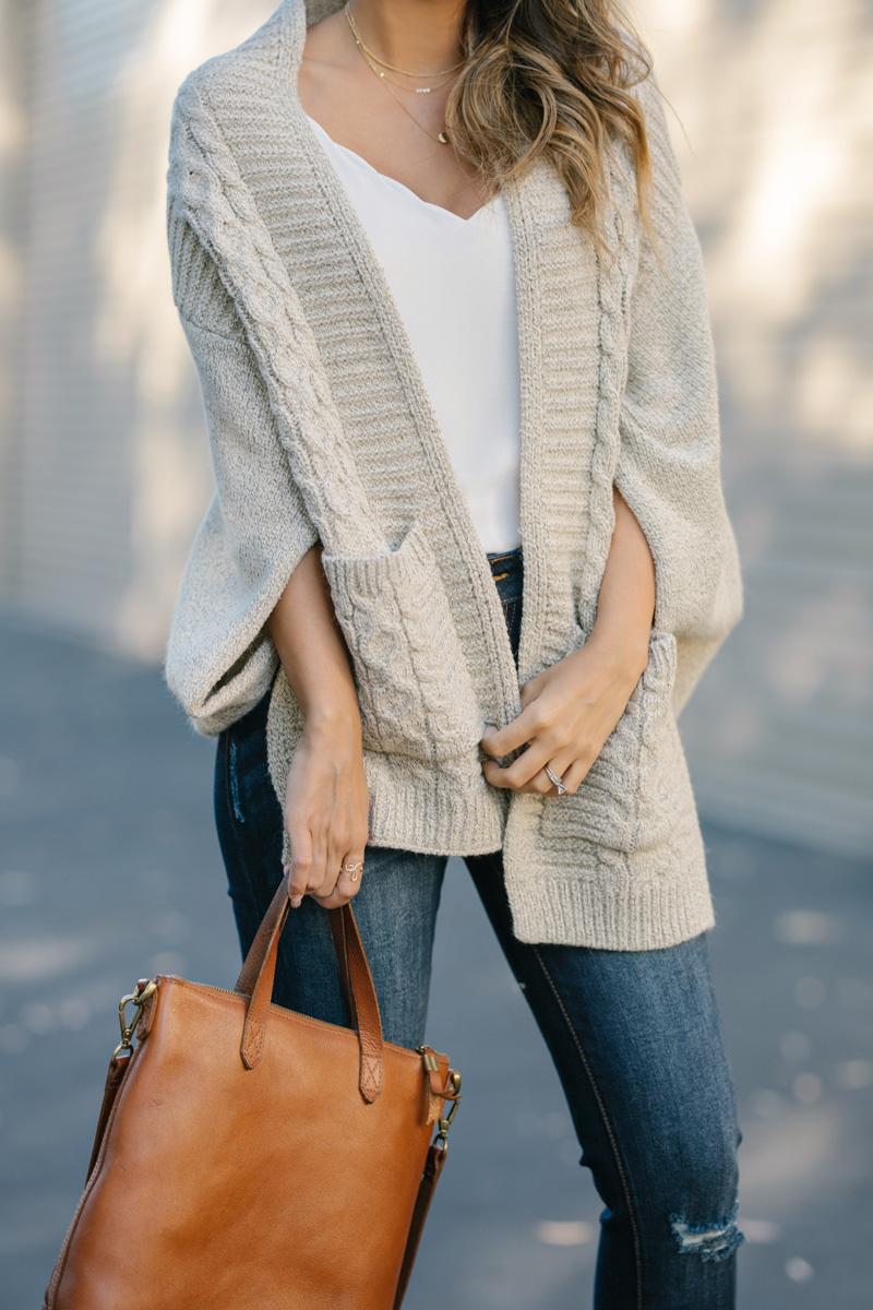 lace and locks petite fashion blogger fall poncho sweater – 05 ...