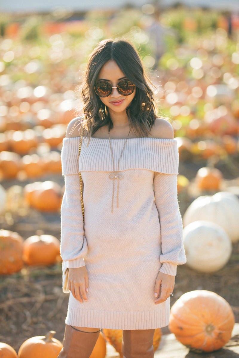 lace and locks, fall sweater dress, petite fall fashion