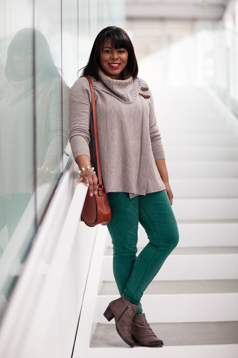 To jump start Spring, add a pair of colorful denim to your repertoire. By adding a pop of color to your look, you will brighten your mood and stay warm.