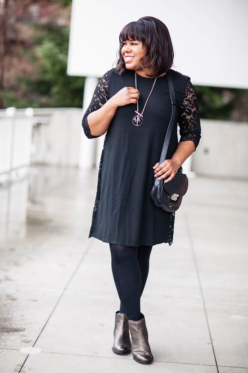 I love a great closet staple as much as the next girl, but it took me years before I purchased a Little Black Dress. Shocker, I know! I'm just not the biggest fan of black. In fact, when I started this blog back in 2014, I refused to wear it at all! I just didn't like it on me and prefer softer color palettes. In the workplace, it's encouraged to dress business casual so after wearing black pants throughout the years, I eventually got up the nerve to venture out of my comfort zone and purchase black in other items. Plus, I would always see cute tops and other clothing in black but wouldn't buy them if they weren't offered in another color. Does anyone else relate?