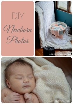 DIY Newborn Photos -- laceandyarn.com