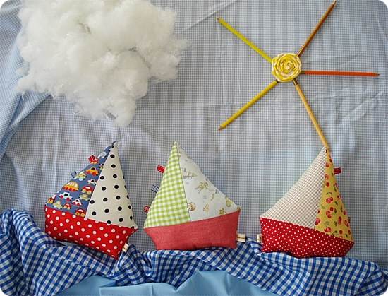 Sailboat softie toy