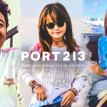 New streetwear shirts with positive messages for kids from Port 213 now featured on TheDrop.com.