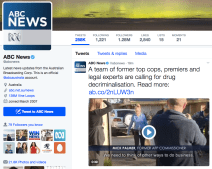 Radio is not just Radio - The ABC has Twitter too.