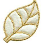 2'' by 1 3/8 - Iron On Ivory - Satin Applique2'' by 1 3/8 - Iron On Ivory - Satin Applique