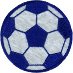 3 3/4'' - 9.5 cm - Iron On Soccer Ball Applique3 3/4'' - 9.5 cm - Iron On Soccer Ball Applique