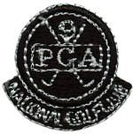 Black - 1 5/8'' by 1'' Iron On PGA National Golf ClubBlack - 1 5/8'' by 1'' Iron On PGA National Golf Club