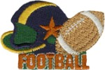 2 3/8'' by 1 1/2'' Iron On FootBall Applique2 3/8'' by 1 1/2'' Iron On FootBall Applique