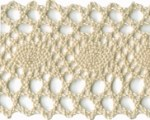 2'' Cotton Cluny Lace - Natural, White2'' Cotton Cluny Lace - Natural, White