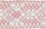 1 7/8'' Pink/White Cotton Cluny Lace Trim1 7/8'' Pink/White Cotton Cluny Lace Trim