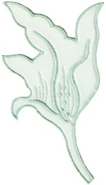 3 3/4'' by 7 3/8'' Nylon Tricot Leaf Applique - Mint, Blue3 3/4'' by 7 3/8'' Nylon Tricot Leaf Applique - Mint, Blue
