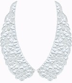 7 5/8'' by 2 3/4'' White Venice Collar Set (Left/Right)7 5/8'' by 2 3/4'' White Venice Collar Set (Left/Right)