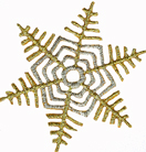 2'' - 5.1 cm - Gold/Silver Snowflake Applique2'' - 5.1 cm - Gold/Silver Snowflake Applique