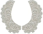 3'' by 5 5/8'' Ivory Venice Collar Set (Left/Right)3'' by 5 5/8'' Ivory Venice Collar Set (Left/Right)