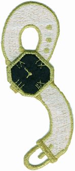 1 3/4'' by 4 1/2'' Iron On Wrist Watch Applique - 3 Colors1 3/4'' by 4 1/2'' Iron On Wrist Watch Applique - 3 Colors