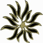 3 3/4'' by 3 1/4'' Metallic Applique - Gold, Silver3 3/4'' by 3 1/4'' Metallic Applique - Gold, Silver