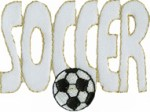 2 3/4'' by 1 5/8'' SOCCER Applique2 3/4'' by 1 5/8'' SOCCER Applique
