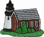 2 3/8'' by 2'' Lighthouse Applique2 3/8'' by 2'' Lighthouse Applique