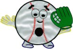 5 3/4'' by 3 3/4'' Baseball Man Applique5 3/4'' by 3 3/4'' Baseball Man Applique