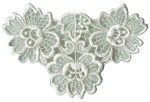 4 1/2'' by 2 7/8'' Ivory Venice Applique4 1/2'' by 2 7/8'' Ivory Venice Applique