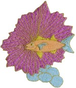 3'' by 3 1/2'' Fish Applique - Purple, Blue3'' by 3 1/2'' Fish Applique - Purple, Blue