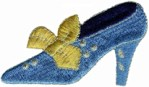 2 7/8'' by 1 5/8'' Shoe Applique - Blue2 7/8'' by 1 5/8'' Shoe Applique - Blue