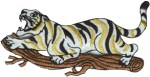 4'' by 2 1/2'' Iron On Tiger Applique4'' by 2 1/2'' Iron On Tiger Applique