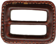 1 1/2'' by 1 1/4'' Old Leather Plastic Slide1 1/2'' by 1 1/4'' Old Leather Plastic Slide