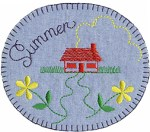 3 1/2'' by 3'' Iron On Summer Applique3 1/2'' by 3'' Iron On Summer Applique
