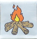 1 1/2'' by 1 5/8'' Camp Fire Applique1 1/2'' by 1 5/8'' Camp Fire Applique