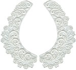 8'' by 4'' White Venice Lace Collar Set - Left/Right8'' by 4'' White Venice Lace Collar Set - Left/Right