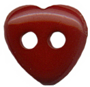 7/16'' - Dark Red - Heart Button7/16'' - Dark Red - Heart Button