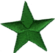 1 3/8'' - 3.5cm Green Iron On Star Applique1 3/8'' - 3.5cm Green Iron On Star Applique