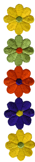 7 3/4'' by 1 1/2'' Iron On Flowers Applique7 3/4'' by 1 1/2'' Iron On Flowers Applique