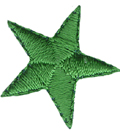 7/8'' - 2.2cm Iron On Green Star Applique7/8'' - 2.2cm Iron On Green Star Applique