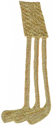 3 3/8'' by 1 1/2'' Metallic Gold Golf Clubs3 3/8'' by 1 1/2'' Metallic Gold Golf Clubs