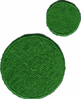 2 Piece Green Circle Applique Set2 Piece Green Circle Applique Set