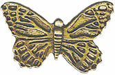 7/8'' by 1/2'' Metal Shank Butterfly Button
