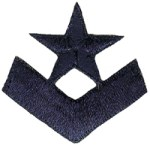1 1/2'' by 1 1/2'' Iron On Navy Rank Patch1 1/2'' by 1 1/2'' Iron On Navy Rank Patch