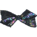 3 3/4'' by 1 3/4'' Beaded & Sequined Bow with Pin Back - 4 Colors3 3/4'' by 1 3/4'' Beaded & Sequined Bow with Pin Back - 4 Colors