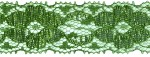 1 1/4'' Metallic Green Lace Trim1 1/4'' Metallic Green Lace Trim