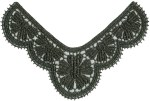 5 1/8'' by 3 1/4'' Metallic Black Venice  Applique5 1/8'' by 3 1/4'' Metallic Black Venice  Applique