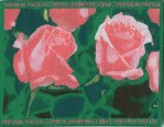 3 3/8'' by 2 1/8'' Pink Roses Iron On Patch3 3/8'' by 2 1/8'' Pink Roses Iron On Patch
