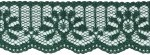 1 1/8'' Dark Green Lace Trim1 1/8'' Dark Green Lace Trim