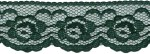 1 1/4'' Hunter Green Lace Trim1 1/4'' Hunter Green Lace Trim