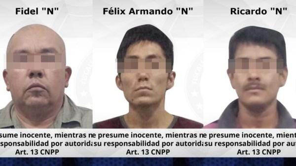 Prisión preventiva para tres adultos y un adolescente luego de robar a mano armada a cliente de una nevería en Jojutla