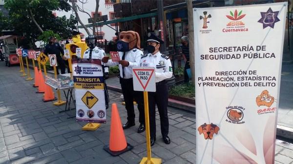 Coordinador de vialidad pública en Cuernavaca pidió a la población respetar las señales de tránsito